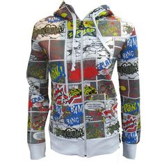 Awesome comic book hoodie - I have one just like this and my colleagues love it!