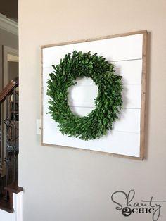 DIY Shiplap Wreath Frame - Shanty 2 Chic