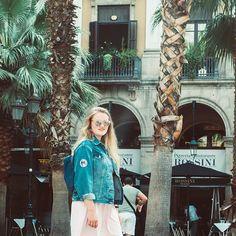 Ganz der Tourist in Barcelona 😍😇😘😊 #fontdelestresgràcies #barcelona #catalunya #palmtrees