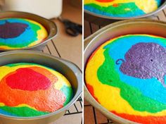 Rainbow cake...no birthday's complete without it!