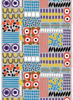 Akankaali fabric by Marimekko. Design by Aino-Maija Metsola. Textiles, Textile Patterns, Textile Prints, Textile Design, Fabric Design, Print Design, Pattern Texture, Pattern Art, Pretty Patterns