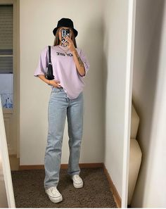 Indie Outfits, Teen Fashion Outfits, Retro Outfits, Cute Casual Outfits, Stylish Outfits, Urban Outfits, Simple Outfits, Outfits For Teens, Tomboy Fashion