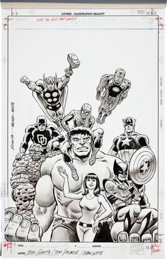 Hero Initiative variant cover to The Official Overstreet Comic Book Price Guide #41 by John Romita and Tom Palmer tumblr_ns0ge5vDJs1rwyqmxo1_540.jpg (523×810)