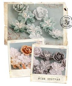 I think that Flowers are an all time favorite of mine for scrapbooking!  LOVE these prima flowers.