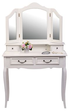 Homeart Dressing Table With Mirror White Brand New in Home & Garden, Furniture, Bedroom Furniture Contemporary Dressing Tables, Kids Bedroom, Master Bedroom, Dressing Table Mirror, White Brand, Bedroom Furniture, Garden Furniture, Home Art, Home And Garden