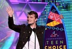 Josh Hutcherson accepts the 2015 Teen Choice Award for Choice Movie Actor (Sci-Fi/Fantasy), for his portrayal of Peeta Mellark in The Hunger Games: Mockingjay Part 1, August 16th, 2015.