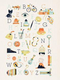 Alphabet poster. Really like this color pallet for nursery.