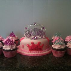 Princess smash cake and cupcakes made by Tootsweets Cupcakery