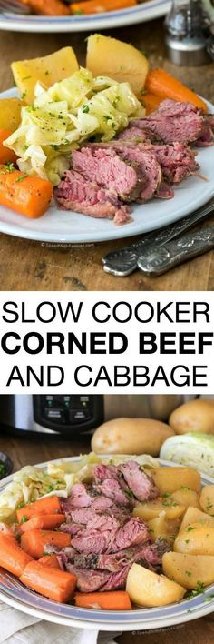 This Corned Beef and Cabbage Slow Cooker recipe packs all of the deliciousness of corned beef into a meal that cooks itself. Talk about a stroke of good fortune on St. Patrick's Day or any day of the year!