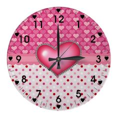 Heart Play Wall Clocks