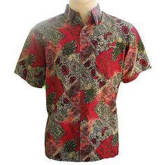 Mens Thai Silk Patterned Shirts - Long or Short Sleeve Casual Paisley Small-XXXL
