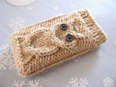 iPod case iPhone cover Droid holder Smartphone by Polar1Butterfly, $11.00    My mom knits these with credit card pockets, detachable wrist straps and magnetic flap closure
