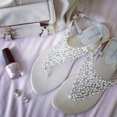 FLIP AND STYLE || Sydney Fashion Blogger: Misano Shoes - Shimmer sandal diamonte pearl