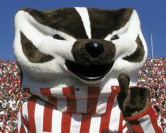 University of Wisconsin Badgers - mascot Bucky Wausau Wisconsin, Wisconsin Badgers Football, Cross County, Badger Sports, University Of Wisconsin, University Life, Football Pictures, Oregon Ducks, Bucky