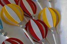 Hot Air Balloon cupcake toppers by MemoriesBlossom on Etsy
