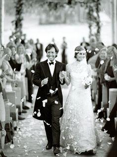 David and Lauren #Bush - #wedding 2011 - Ralph Lauren #dress