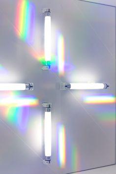 light art piece - Talented artist and creative visionary Rachel Harding hails from London, England where she creates these stunning light art pieces using fluorescen. Rainbow Aesthetic, Aesthetic Colors, Aesthetic Pictures, Rainbow Light, Over The Rainbow, Rainbow Photography, Installation Art, Art Installations, Visual Effects