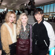 SooYoung and Minho with Chloe Moretz! #Sooyoung #Minho