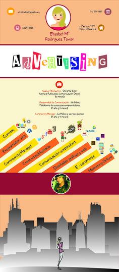¿Qué te parece el #currículum de Eli? ¡Envíanos tus #ideas, #anuncios, #currículums o #campañas a info@adaspirant.com y las promocionaremos en nuestro portal, #facebook, #twitter y #pinterest! Además, participarán en el concurso ADaspirant.com como mejor anuncio del mes. ¿Te animas? Mbti, Portal, Resume, Hunting, Facebook, Twitter, Ideas, Best Ads, Cv Design