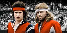 John MacEnroe and Bjorn Borg tennis 1970s 1980s
