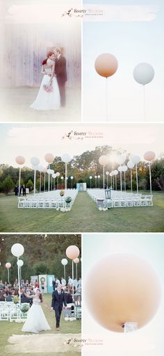 Love the ceremony decorated with balloons...also LOVE Simply Bloom Photography