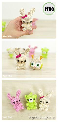 Mesmerizing Crochet an Amigurumi Rabbit Ideas. Lovely Crochet an Amigurumi Rabbit Ideas. Crochet Keychain Pattern, Crochet Bunny Pattern, Crochet Rabbit, Crochet Amigurumi Free Patterns, Crochet Bookmarks, Crochet Animal Patterns, Crochet Blanket Patterns, Knitting Patterns, Crocheting Patterns