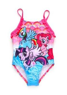 My Little Pony   Character Ruffle Swimsuit Toddler Girls