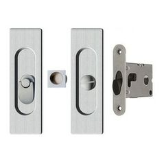 Modern Door Lock Hardware modern rectangular pocket door mortise lock | emtek products, inc