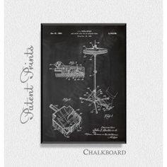 Cymbal Stand 1964 Patent Print