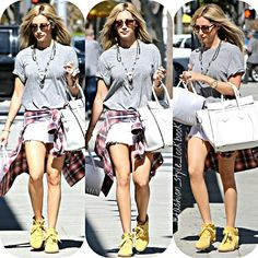 #ashleytisdale #style #fashion #instastyle #instafashion #beautiful #ootd #hot #skinny #teenager #inspiration #fashionista #fashionicon  #styleicon #perfection #celebrity #streetstyle #disney #vanessahudgens #selenagomez #mileycyrus #blonde #tshirt #denim #jeans #hipster #streetfashion #classy #love #weheartit... - Celebrity Fashion