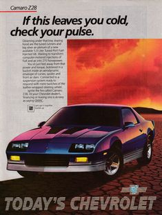History & Popular Models of Chevrolet Cars – Best Worst Car Insurance Camaro Iroc, Chevrolet Impala, Chevrolet Camaro, Classic Chevrolet, Chevrolet Malibu, Old Advertisements, Car Advertising, Corvette, Convertible