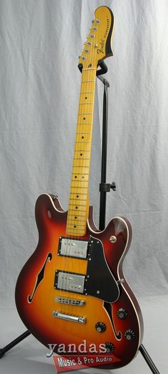 Fender Starcaster Semi-Hollowbody Electric Guitar The Fender Starcaster arrived on the guitar scene in the mid-late 70's and now its back hotter than ever! The thin Semi-Hollow offset body is fun to p