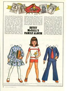 Vintage September 1977 Magazine Paper Doll Betsy McCall's Family Album