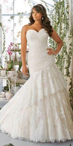 chic plus size wedding gowns 4 #PlusSizeWeddingThings #Plussizeweddingdresses