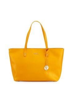FURLA Daisy Medium Leather Tote Bag, Giallo - vianoce 2016