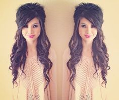 half updo long hair