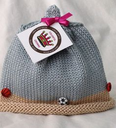 2b81afc46a5 Items similar to Let s Play Ball Knitted Newborn Baby Hat