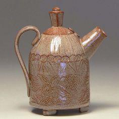 Rustic stoneware teapot Pinkul pottery glazed by PinkulPottery