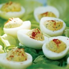 Healthy Deviled Eggs Recipe means that I can eat more than just Perfect :) Healthy Potluck, Healthy Picnic, Picnic Foods, Healthy Cooking, Healthy Snacks, Healthy Eating, Healthy Recipes, Diabetic Recipes, Picnic Recipes