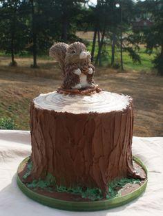 woodland cake theme | Party Cakes: Woodland Tree Stump Cake