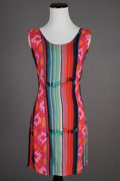 6de6aa358 90s VTG Jams World Surf Line Hawaii NWOT Beach Mini Dress in Colorful Print