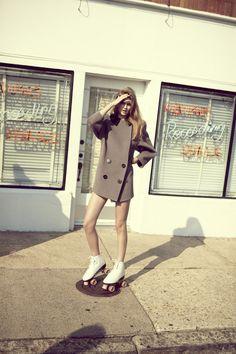 Oyster magazine. The coats incredible! MATCHESFASHION.COM #MATCHESFASHION