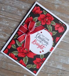 Magnolia Lane Christmas Card Diy Christmas Cards Stampin Up, Homemade Christmas Cards, Christmas Cards To Make, Xmas Cards, Simple Christmas, Stampin Up Cards, Handmade Christmas, Christmas Crafts, Christmas Decorations