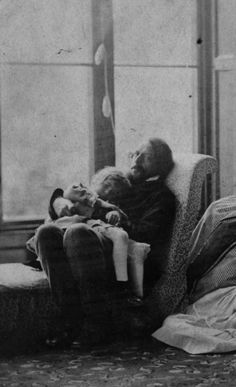 """funeral-wreaths: """"Detail of a photograph by Lewis Carroll of the Tennyson and Marshall families; Alfred Tennyson with his son Hallam on his lap This is one of the sweetest things ever. Adventures In Wonderland, Alice In Wonderland, Great Photos, Old Photos, Even The Rain, The Lady Of Shalott, Julia Margaret Cameron, Pre Raphaelite, Lewis Carroll"""