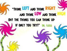 Dr. Seuss bulletin board idea...quote