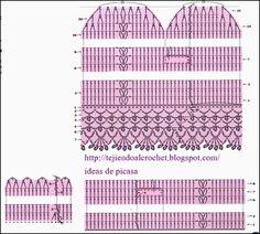 crochet fabric , CROCHET - GANCHILLO - PATRONES - GRAFICOS: MANOPLAS TEJIDAS A GANCHILLO CON SUS EXPLICACIONES