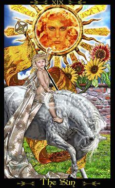 XIX - Le soleil - Tarot Illuminati par Erik Dunne