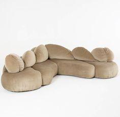 // Luigi Colani; Sofa for Rena Rosenthal, 1970s.