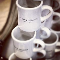 dean and deluca mugs...love this store...wish there was one here.