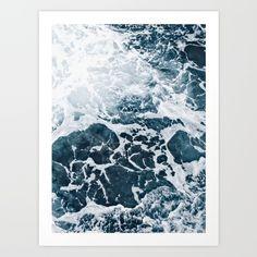 Marble ocean Art Print